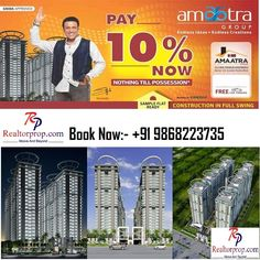 Amaatra Homes presents to you a golden opportunity to buy 2 and 3 BHK luxury apartments in picturesque site of Greater Noida West