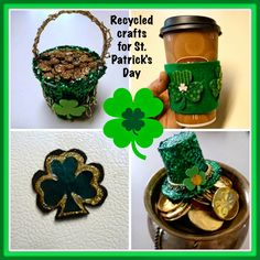 St. Patricks Day recycled craft roundup