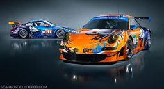Flying Lizard Porsche No. 80 and No. 81 #ALMS #US 2011