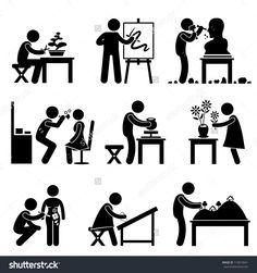 stock-vector-artistic-artist-work-occupation-bonsai-painter-sculptor-handcraft-potter-florist-makeup-embroider-119819041.jpg (1500×1600)