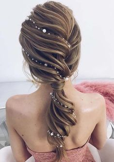Idée Tendance Coupe & Coiffure Femme 2018 : : 53 Fabulous Ideas of Wedding Hairstyles & Haircuts in 2018 - wedding and engagement photo Hairstyles Haircuts, Pretty Hairstyles, Bridal Hairstyles, Mermaid Hairstyles, Hairstyle Wedding, Hairstyle Ideas, Wedding Hairdos, Wedding Party Hair, Perfect Hairstyle