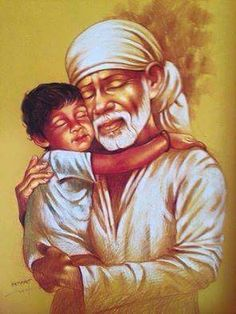 When all I wished was to hug Sai baba so that my restlessness can calm down. Ganesh Bhagwan, Shirdi Sai Baba Wallpapers, Sai Baba Photos, Baba Image, Sathya Sai Baba, Poster Drawing, Om Sai Ram, God Pictures, Lord Shiva