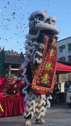 Colourful Lion and Dragon Dance Photo posted by Sifu Derek Frearson
