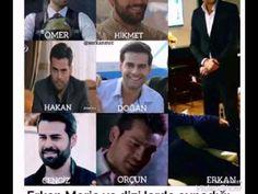 Erkan Meric ve dizilerde oynadığı karakterler..
