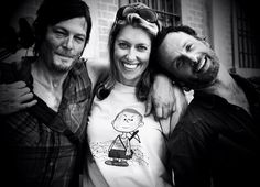 Behind the scenes of The Walking Dead. I need that tshirt!