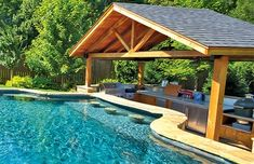 What is a swim-up pool bar? - and how to add one to your gardenWhat is a swim-up pool bar? - and how to add one to your gardenSwim up pool bar with built-in bar Backyard Patio Designs, Backyard Retreat, Swimming Pools Backyard, Large Backyard, Pool Landscaping, Pool House Designs, Pool Bar, Pool With Bar, Country Pool