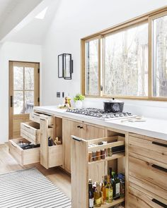 The kitchen in design darling Emily Henderson's Scandi-inspired weekend home is decked out with next-level storage solutions. Take a closer look in 10 Outstanding Organization Ideas to Steal from Emily Henderson's Mountain House. Photograph by Sara Tramp. Home Storage Solutions, Diy Storage, Storage Ideas, Smart Storage, Storage Hacks, Knife Storage, Cheap Storage, Storage Units, Pantry Storage