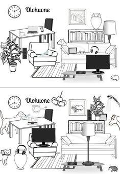 Kissalla on asiaa Office Desk, Floor Plans, Printables, Teaching, Education, Furniture, Home Decor, School, Aphasia