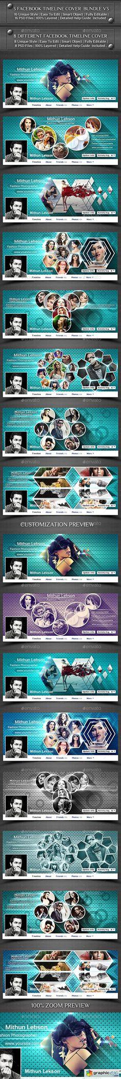 3 Facebook Timeline Cover Bundle V3