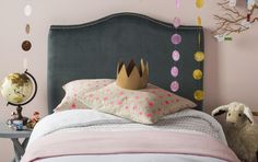 Safavieh's JENEVE ARCTIC GREY HEADBOARD Item: MCR4030B Color: ARCTIC GREY