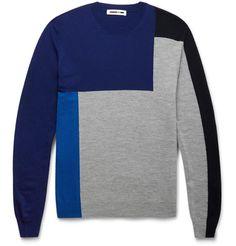 McQ Alexander McQueenColour-Block Wool Sweater