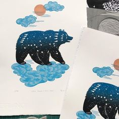 """Ursa Major"" by talented artist and printmaker @zuza_misko Tag your artwork with @artyinc for account exposure and awareness. ⠀⠀ ⠀⠀…"