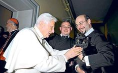 Pope Benedict blesses cat; Cat becomes a star after Pope blessing
