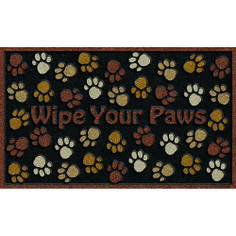 WIPE YOUR PAWS --- Solid neutral colors to compliment any décor, these heavy weight molded rubber mats provide an amazing scraping surface that repels water for great traction in all weather.