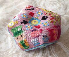 We're all mad here biscornu - Biscornu / Pincushions - Cross Stitch Patterns - Products