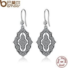Cheap earrings health, Buy Quality earrings bracelet directly from China earring tag Suppliers: 2016 NEW Presents 925 Sterling Silver Fashion Stud Earrings Clear CZ Compatible with Jewelry Special Store Diamond Drop Earrings, Opal Earrings, Antique Earrings, Girls Earrings, Silver Earrings, Silver Jewelry, Lace Earrings, Silver Ring, Hoop Earrings