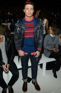Colton Haynes at Lacoste