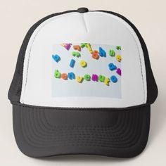 Fridge magnet letters spell benvenuto welcome in I Trucker Hat - accessories accessory gift idea stylish unique custom