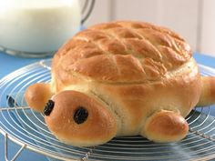 Turtle bread - so cute - with dip in the middle!