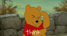pooh bear think cute disney animated cartoons winnie the pooh gif disney cartoons disney movies