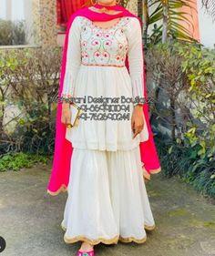 Punjabi Salwar Suits, Patiala Salwar, Sharara Suit, Kurti, Embroidery Suits Punjabi, Embroidery Suits Design, Embroidery Designs, Stylish Dresses For Girls, Unique Dresses