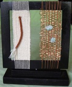 telar realizado con hilos de cobre y algodon