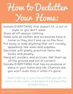 How to Declutter Your Home | ducttapeanddenim.com