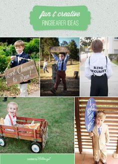Ring Bearer Ideas that are Fun and Creatively Cool! - Creative and Fun Wedding Ideas Made Simple Wedding Signs, Wedding Bells, Wedding Ideas, Picnic Blanket, Outdoor Blanket, Casual Wedding, Ring Bearer, Little Man, Make It Simple