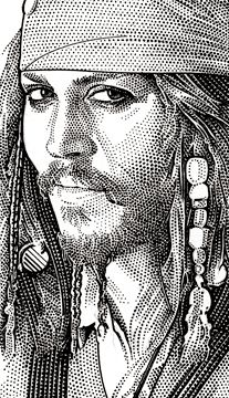 Pen and Ink Portraits...Johnny Depp!