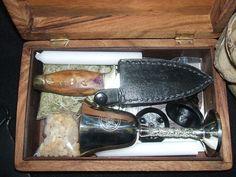 Wood Portable Basic Ritual Altar-In-A-Box Kit