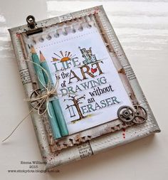 A is for... ~ Simon Says Stamp Monday Challenge using products from Tim Holtz