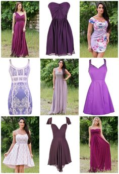 d76df658ec6 Color Coded  Cute Purple Dresses