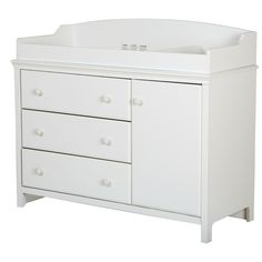South Shore Cotton Candy 3 Drawer Changing Dresser