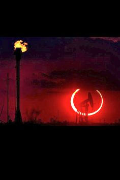 Oilfield Solar Eclipse This is AWESOME!
