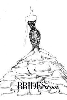231 best fashion illustrations images fashion illustrations Heart Sketches brides kim kardashian s wedding dress fantasy designer sketches ines di santo