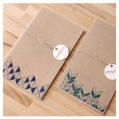 geometric patterned notebooks.