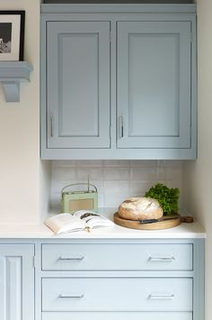I would like Blue in my kitchen if it were this shade!!