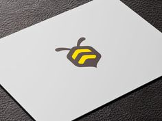 Modern bee graphic