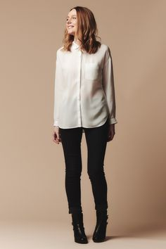 Casual shirt, drop shoulder. Perfect for lighter fabric.
