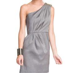 Embellished Shoulder Dress Stunning dress with crystal embellishment <3 Shoshanna Dresses
