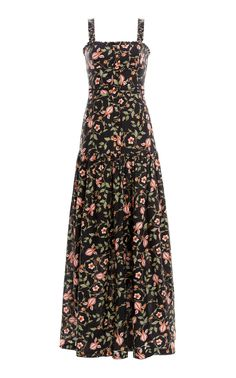 Avellana Printed Tiered Linen Maxi Dress by AGUA BY AGUA BENDITA for Preorder on Moda Operandi