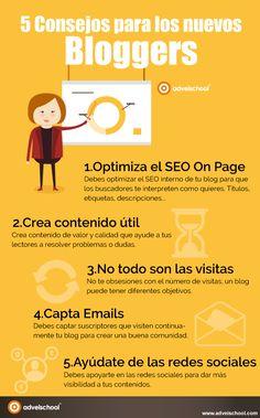 5 consejos para nuevos bloggers #infografia #infographic #socialmedia | TICs y Formación