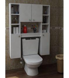 Trendy Bathroom Cabinets Over Toilet Kitchens Ideas Bathroom Storage Solutions, Small Bathroom Storage, Bathroom Closet, Bathroom Organisation, Bathroom Wall Decor, Bathroom Furniture, Bathroom Interior, Industrial Bathroom, Master Bathroom