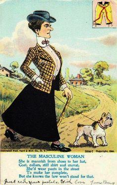 Propagande anti-suffragettess  1890-1910
