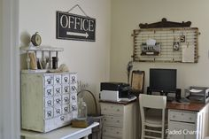 vintage office decor Faded Charm