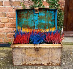 Color burst outside the British Horological Institute. Photo: Rob Wilsdon. Lots of photos of some very creative containers for your garden, home and patio.
