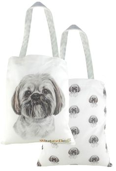 c88dc666b9 Evans Lichfield Made In Uk Cotton Tote Cloth Shopping Bag Lhasa Apso Dog