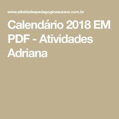 Calendário 2018 EM PDF - Atividades Adriana