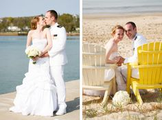 Waterfront, beach wedding photos of the bridal couple. Door County Wedding photography by Jason Mann Photography.
