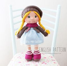 Amigumumi ton ton dolly  free pattern